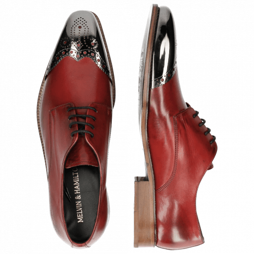 Derby Schuhe Lance 1 Brilliant Red Metal Toe Cap