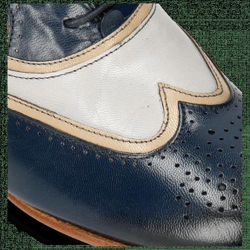 Oxford Schuhe Sally 38 Salerno Navy Light Grey Binding Cappu