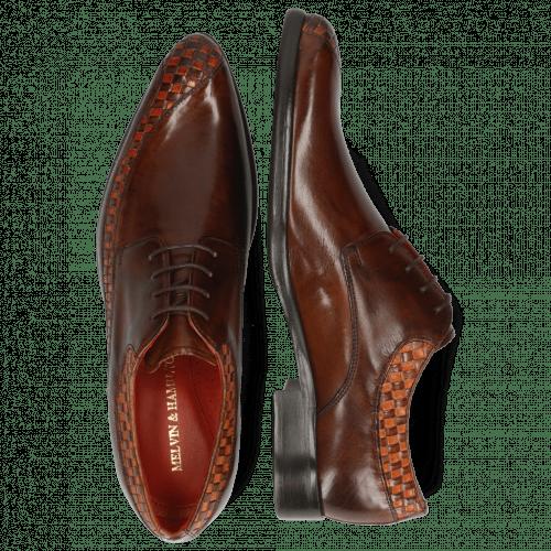 Derby Schuhe Toni 36 Woven Orange Mogano Mid Brown