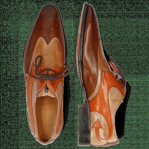 Derby Schuhe Elvis 63 Wood Cappuccino Winter Orange