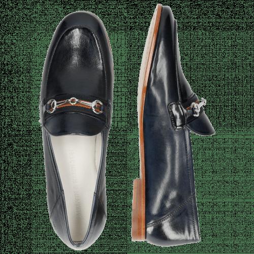 Loafers Scarlett 45 Glove Nappa Navy Strap