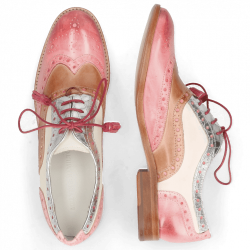 Oxford Schuhe Amelie 70 Vegas Skin Light Rose Timor Silver White