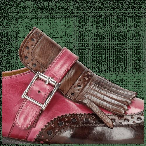 Monk Schuhe Selina 2 Mogano Dark Pink
