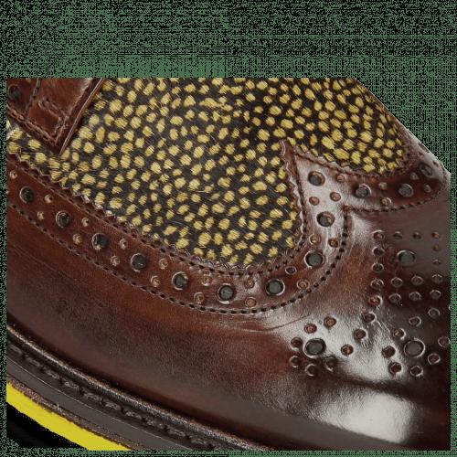 Derby Schuhe Trevor 10 Mid Brown Hairon Halftone New Grass