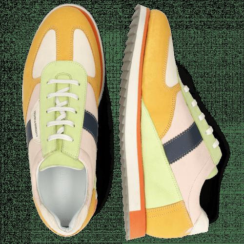 Sneakers Nadine 1 Nubuck Kumquat Cream Lime Rose
