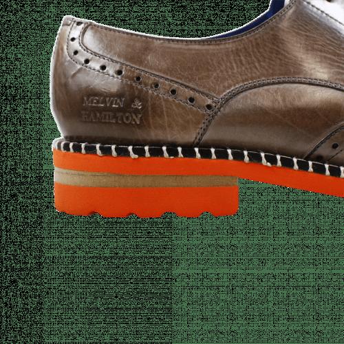 Derby Schuhe Henry 13 Rope Aspen Orange