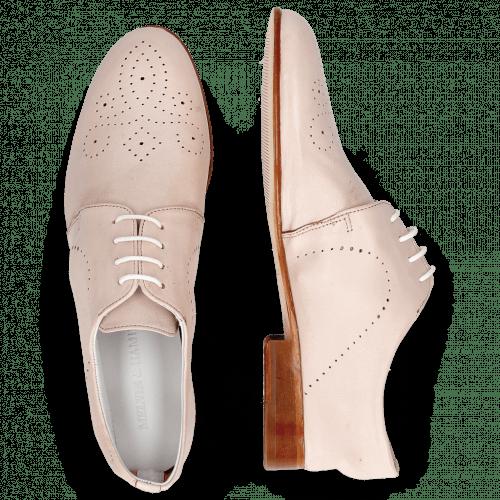 Derby Schuhe Sally 1 Glove Nappa Rose