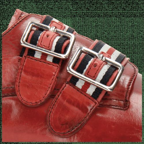 Monk Schuhe Eddy 26 Rich Red Strap French Nylon