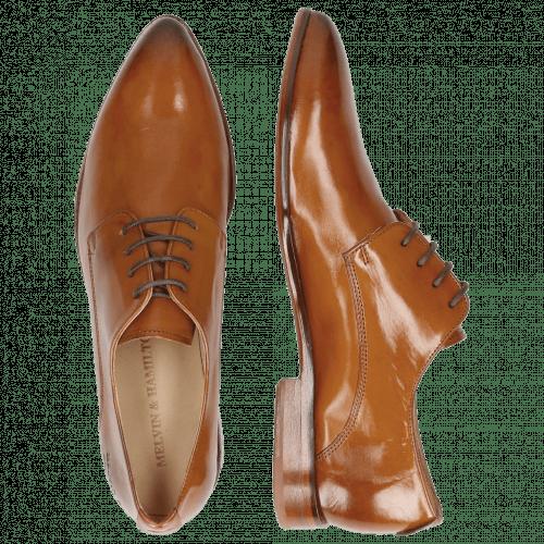 Derby Schuhe Jessy 5 Tan