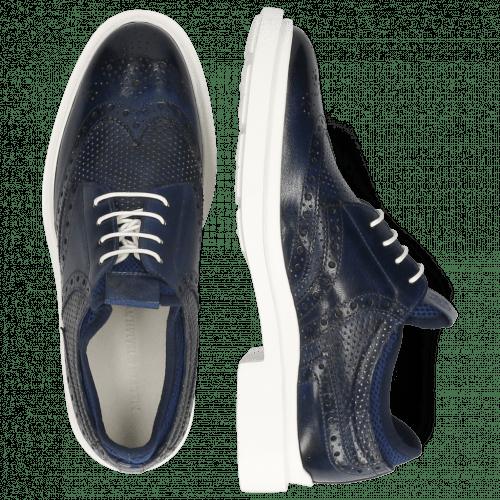 Derby Schuhe Ron 2 Venice Perfo Navy