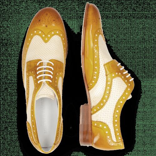 Derby Schuhe Sally 66 Vegas Sun Perfo White