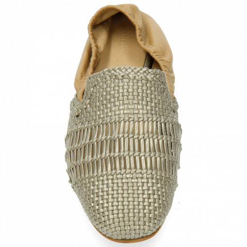 Loafers Jackie 4 Woven Nappa Ash Cashmere