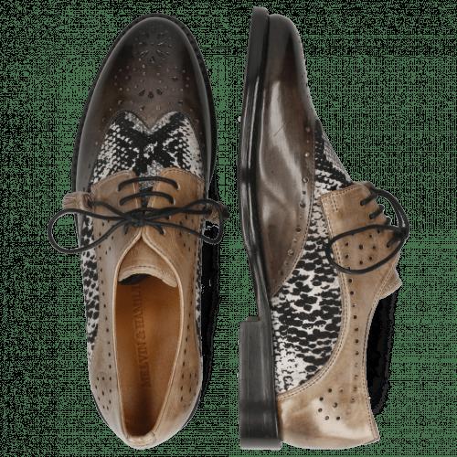 Derby Schuhe Selina 41  Grigio Textile Serpete London Fog Oxygen