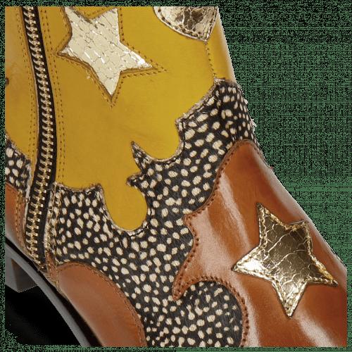 Stiefeletten Marlin 12 Wood Hairon Halftone Mogano Yellow Gold Stars