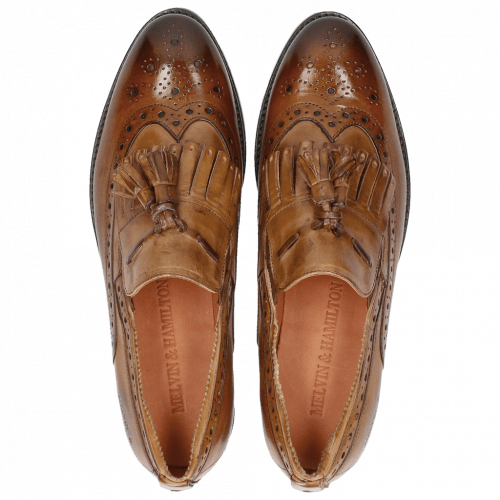 Loafers Roberta 10 Tan Tortora Elastic Mid Brown