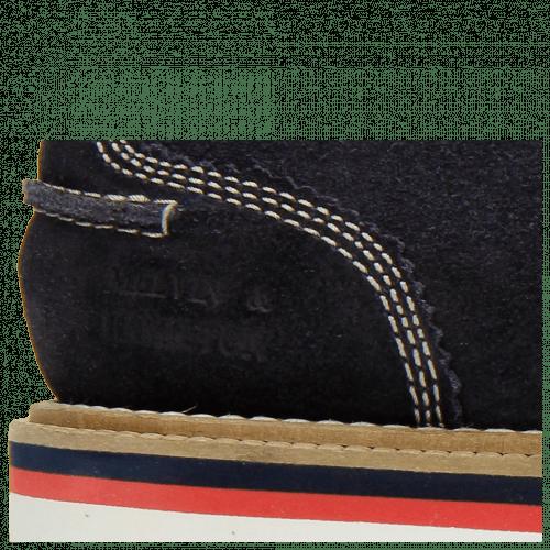 Derby Schuhe Jack 12 Suede Pattini Navy Binding