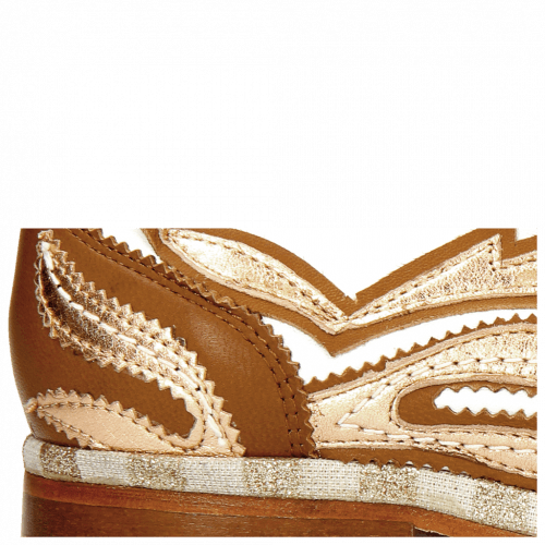 Oxford Schuhe Jessy 43 Rio White Talca Rose Gold