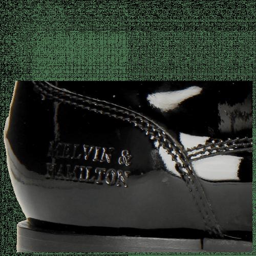 Derby Schuhe Kane 2 Patent Black Tongue Ribbon