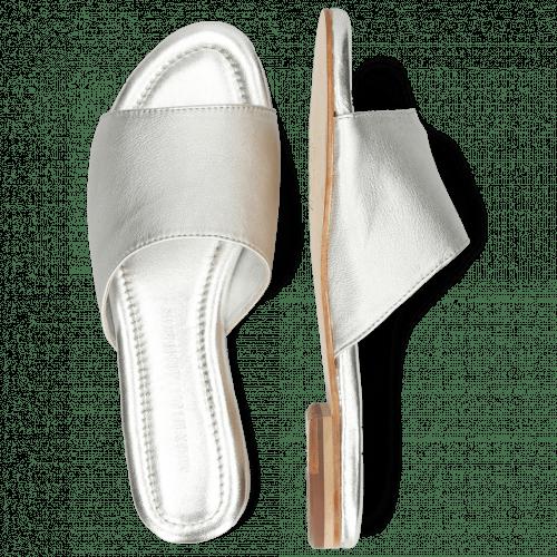 Pantoletten Hanna 5 Silver Talca