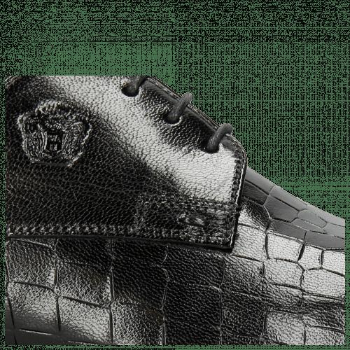 Derby Schuhe Greg 4 Venice Crock Black