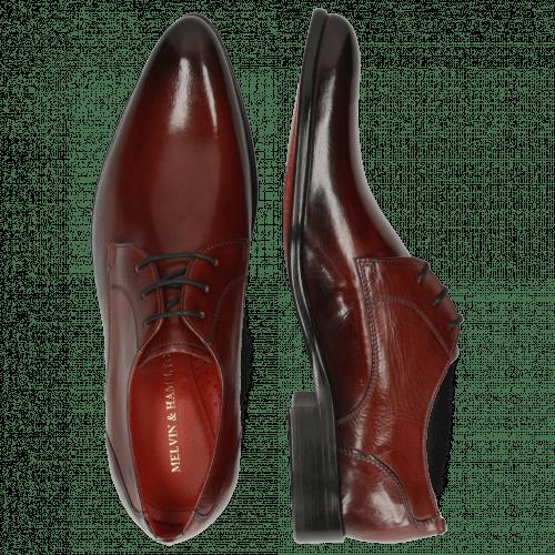 Derby Schuhe Toni 1 Plum Shade Black
