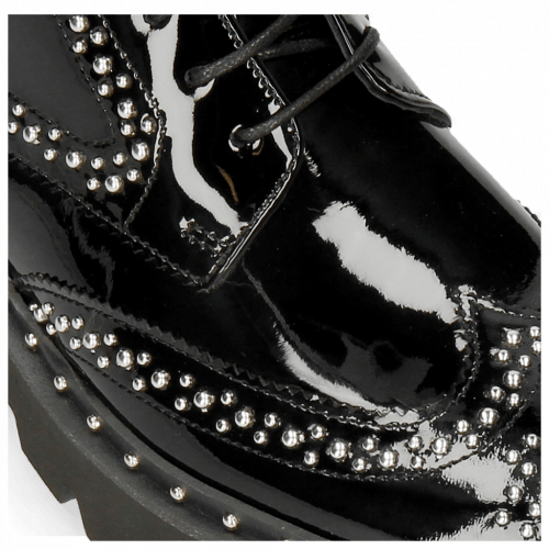 Stiefeletten Sally 120 Patent Black Rivets