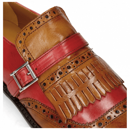Monk Schuhe Selina 2 Cognac Ruby