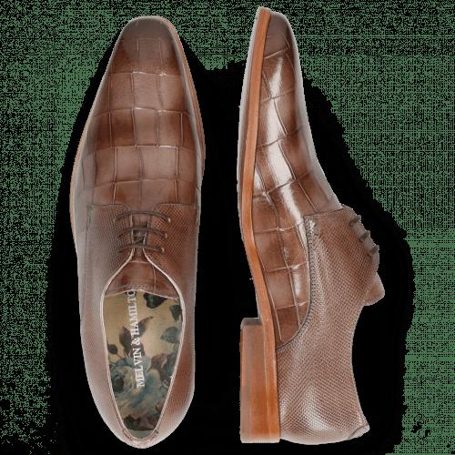 Derby Schuhe Lewis 13 Turtle Ash Dice Nappa