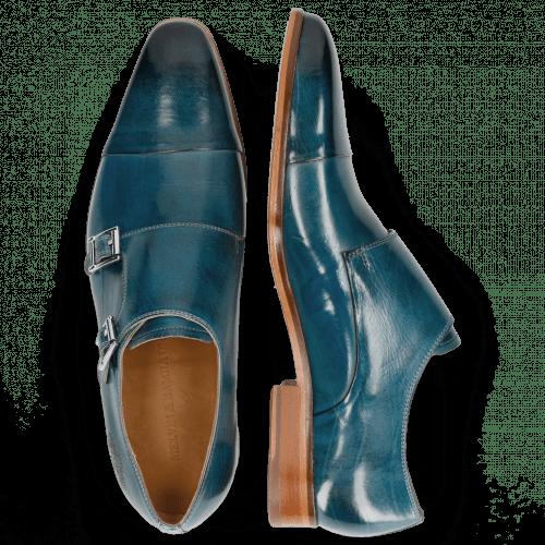 Monk Schuhe Lance 1 Bluette Lasercut Crown