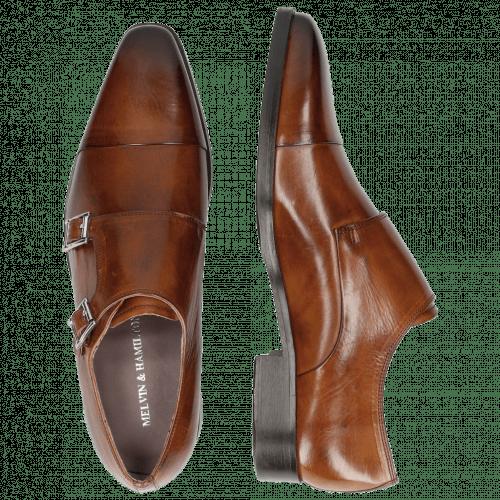 Monk Schuhe Lance 1 Tan HRS Brown