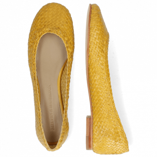 Ballerinas Kate 5 Woven Yellow