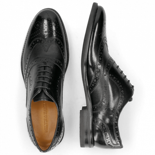 Oxford Schuhe Clint 23 Pavia Black Insole Flex