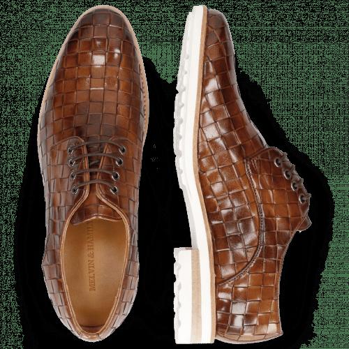 Derby Schuhe Brad 7 Woven Lining Rich Tan