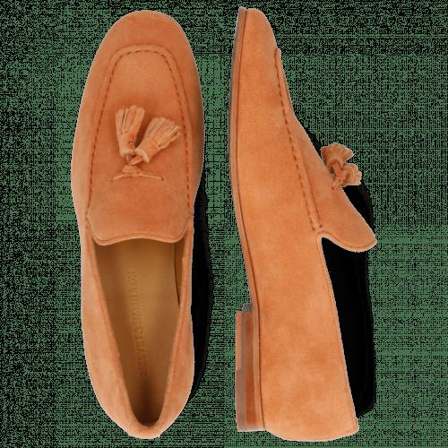 Loafers Clive 20 Suede Pattini Orange