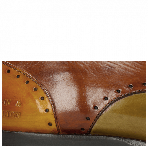 Derby Schuhe Dave 2 Yellow Olive Wood