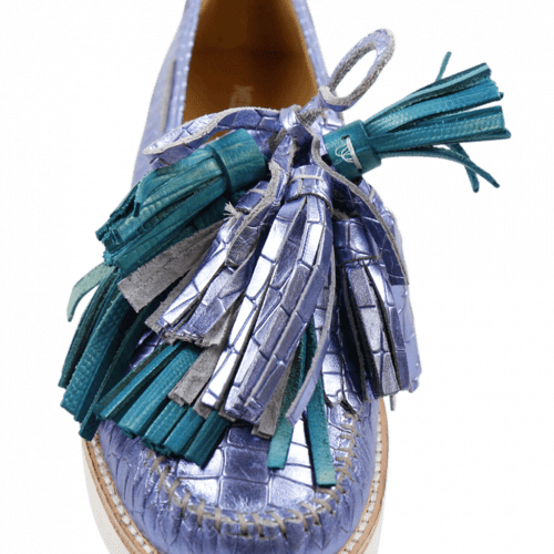 Loafers Bea 4 Timor Turquoise Tassel Multi New Malden White