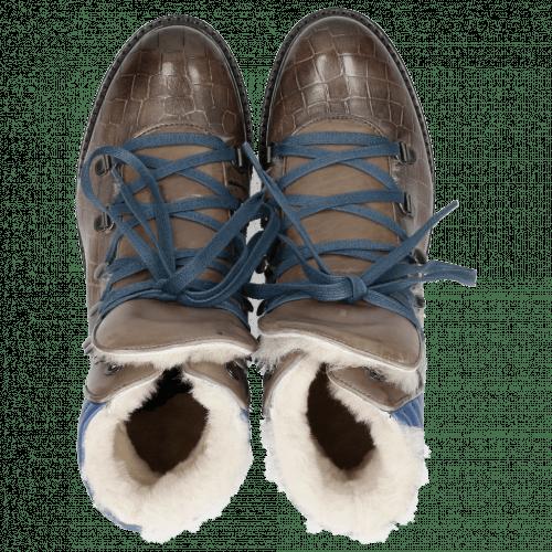 Stiefeletten Bonnie 10 Crock Stone Summer Mid Blue Full Fur Lining Aspen Navy