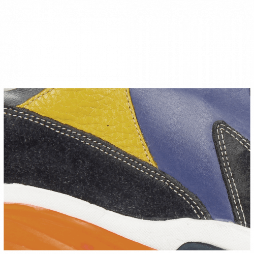 Sneakers Kobe 1 Suede Pattini Navy Midnight Milled White Yellow Orange