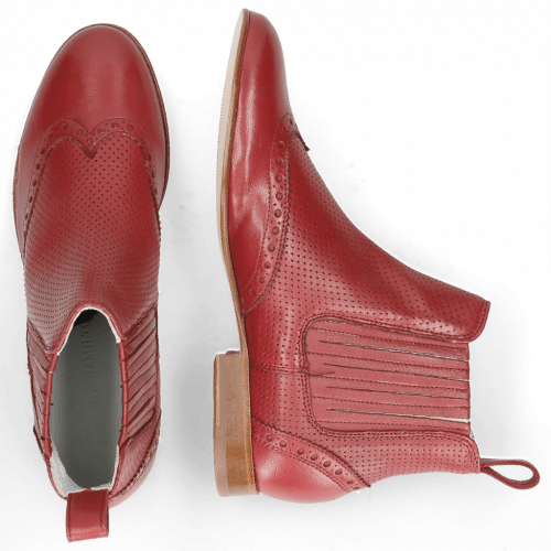 Stiefeletten Sally 129 Nappa Glove Perfo Rich Red
