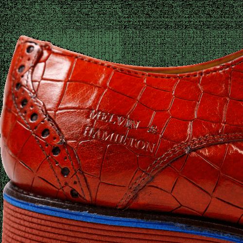 Derby Schuhe Amelie 3 Crock Orange Rook D Red EVA Blue
