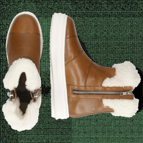 Stiefeletten Fay 10 Nappa Glove Mink White