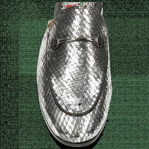 Pantoletten Scarlett 4 Snake Silver Trim Gunmetal
