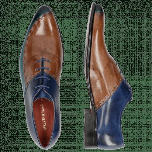 Oxford Schuhe Toni 15 Turquoise Cappu China Blue LS