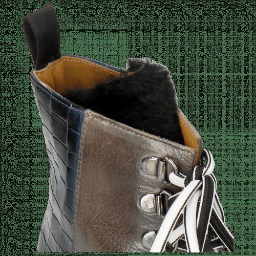 Stiefeletten Amelie 71 Crock Navy Grigio Tongue Nappa Fur