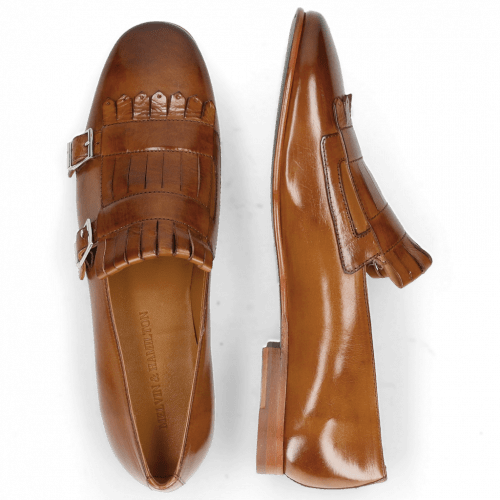 Monk Schuhe Clive 18 Wood Lining Nappa Rich Tan