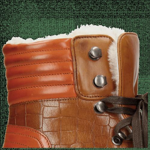 Stiefeletten Bonnie 10 Crock Wood Winter Orange Full Fur