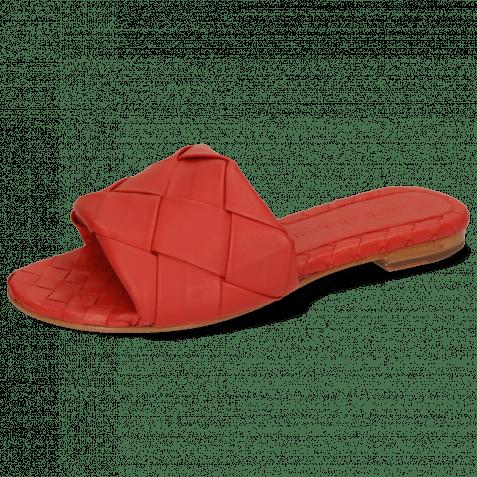 Pantoletten Hanna 67 Nappa Red Lining