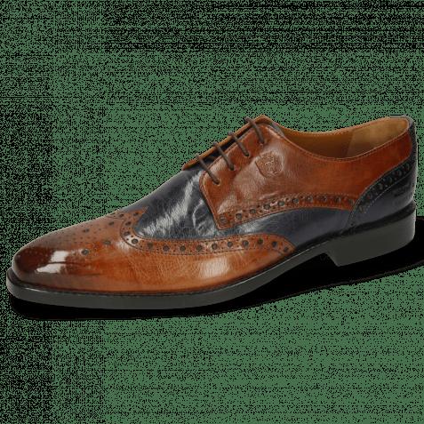 Derby Schuhe Martin 15 Berlin Wood Navy