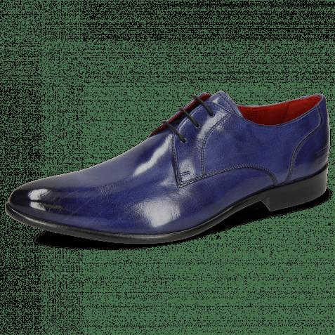 Derby Schuhe Toni 1 Forum Cobalt Lining Red