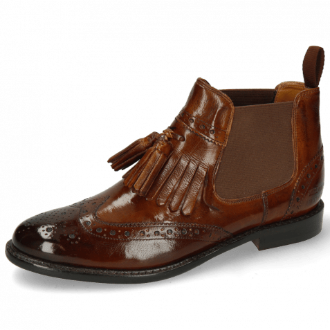 Stiefeletten Selina 5 Pisa Wood Elastic Dark Brown Flex